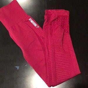 Gymshark energy seamless leggings - red